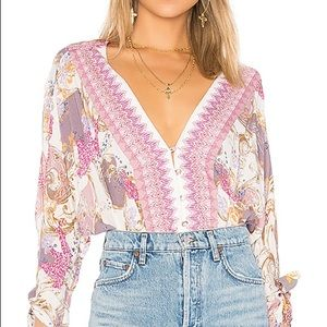 FREE PEOPLE catch me if you can blouse
